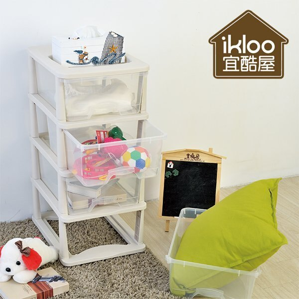 BO雜貨【YV5133】ikloo四層透白抽屜收納箱 四層櫃 玩具收納箱 抽屜櫃 整理箱 組合櫃 置物箱