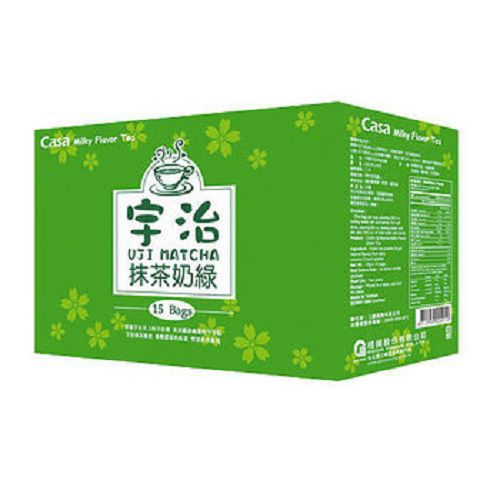 Casa卡薩宇治抹茶奶綠15包/盒【愛買】