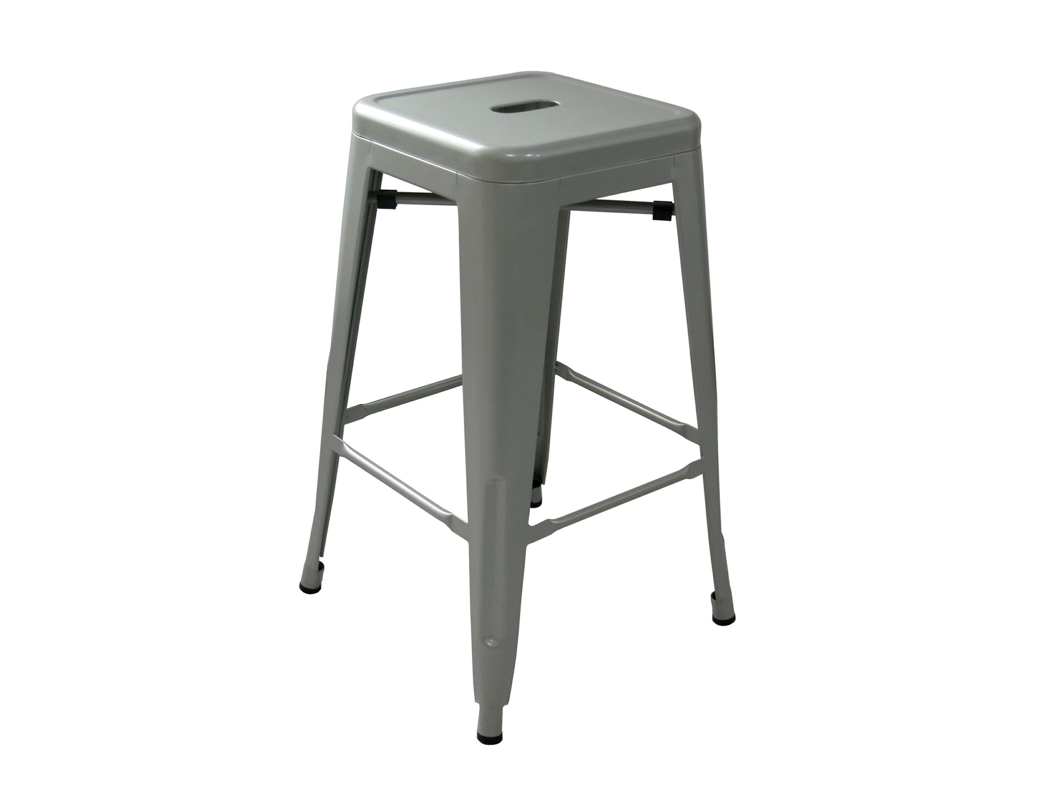 《奧莉薇》銀色 工業風 loft 亮面 中吧檯椅 鐵椅 餐椅 高凳 tolix 復古 鐵皮 美式 六色 !新生活家具! 樂天雙12