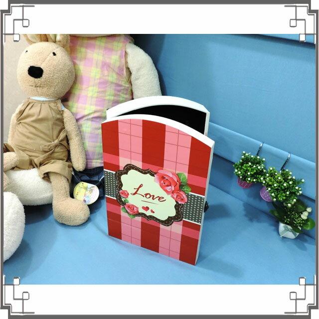 皮革KEY BOX《LK15-大1》鄉村玫瑰木製皮革鑰匙盒 收納盒 壁櫃 壁飾 居家布置◤彩虹森林◥