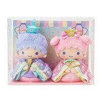 雙子星絨毛玩偶娃娃推薦到尼德斯Nydus 日本正版 雙子星 KiKi&LaLa  女兒節 雛祭娃娃 絨毛玩偶 娃娃組 擺飾  公仔就在尼德斯Nydus推薦雙子星絨毛玩偶娃娃