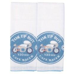 ViViBaby - 復古賽車紗布澡巾 (2入)