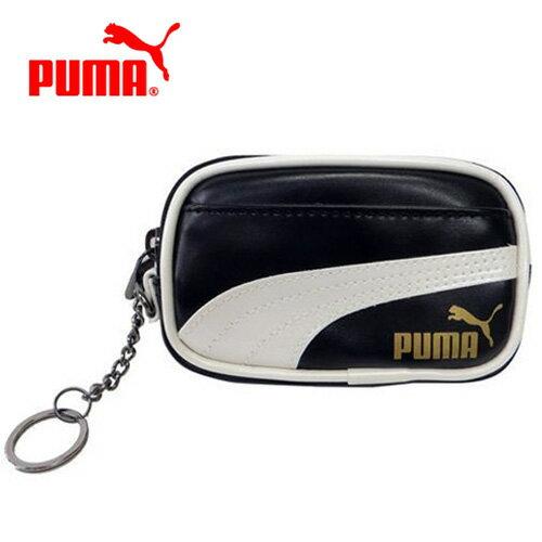 【日本正版】PUMA 皮質 零錢包 卡片包 收納包 附鍊子 防潑水 - 062445