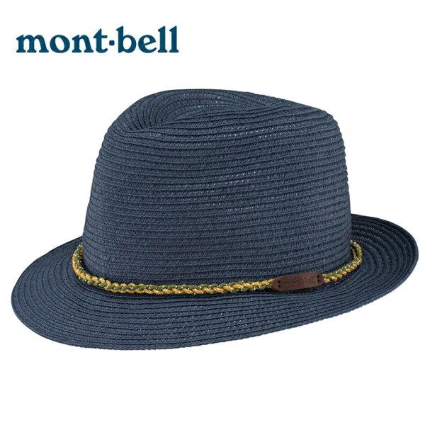 【mont-bell日本】Material紳士帽圓盤帽大盤帽遮陽帽藤編帽草帽海軍藍/2108173
