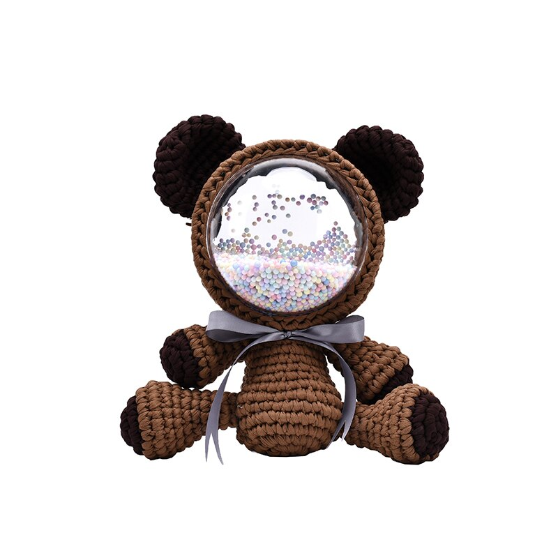 2021新款暴力小熊手工毛線編織包包diy材料包送閨蜜女友自制斜挎