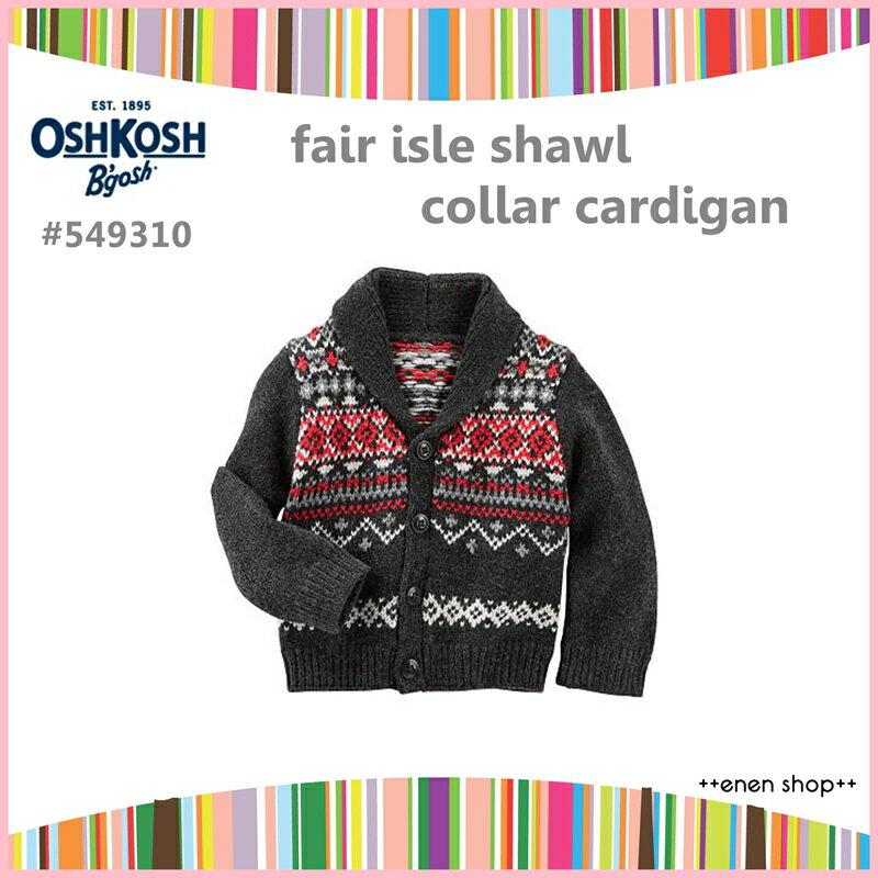 Enen Shop @OshKosh B'gosh 費爾島款開襟針織外套 ∥ 12M/18M/24M