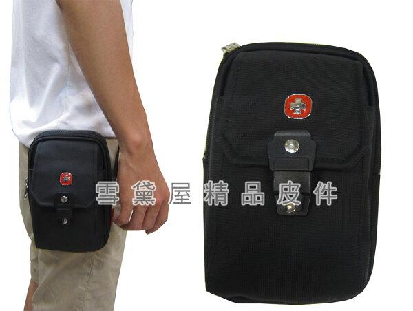 ~雪黛屋~SPYWALK腰包主袋6.5吋手機適用二層主袋外掛式腰包工具包隨身物品型男必備腰包防水尼龍布SD2731