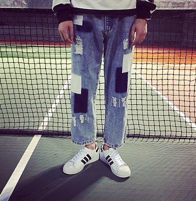 日版 寬版 寬褲 闊腿褲 松本奈惠 補丁 牛仔 寬褲 喇叭褲 復古 毛鬚褲