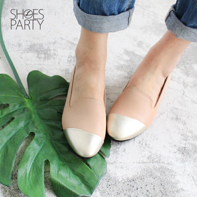 【 C2-17203L 】真皮拼接歐貝拉_Shoes Party 1