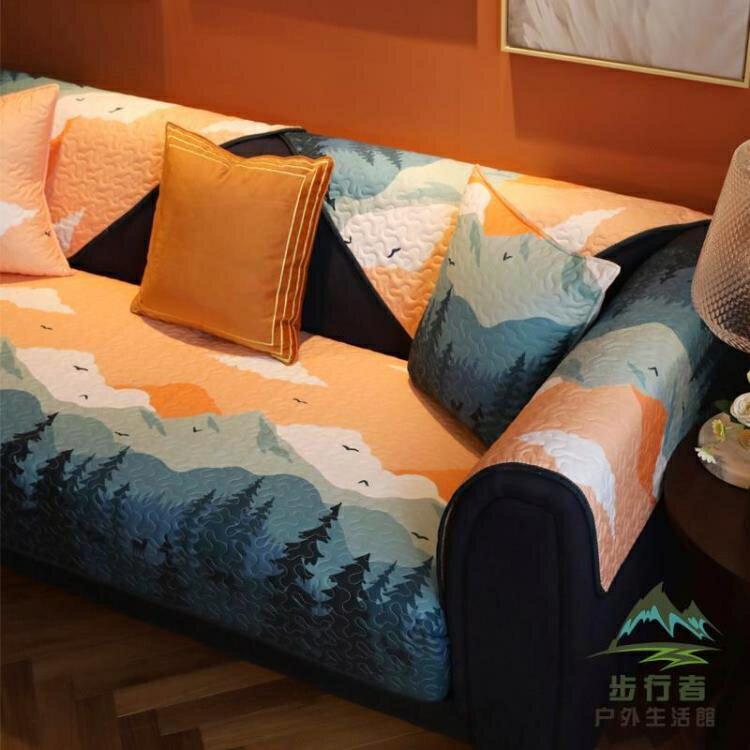 簡約沙發墊全棉布藝防滑沙發套罩坐墊四季通用