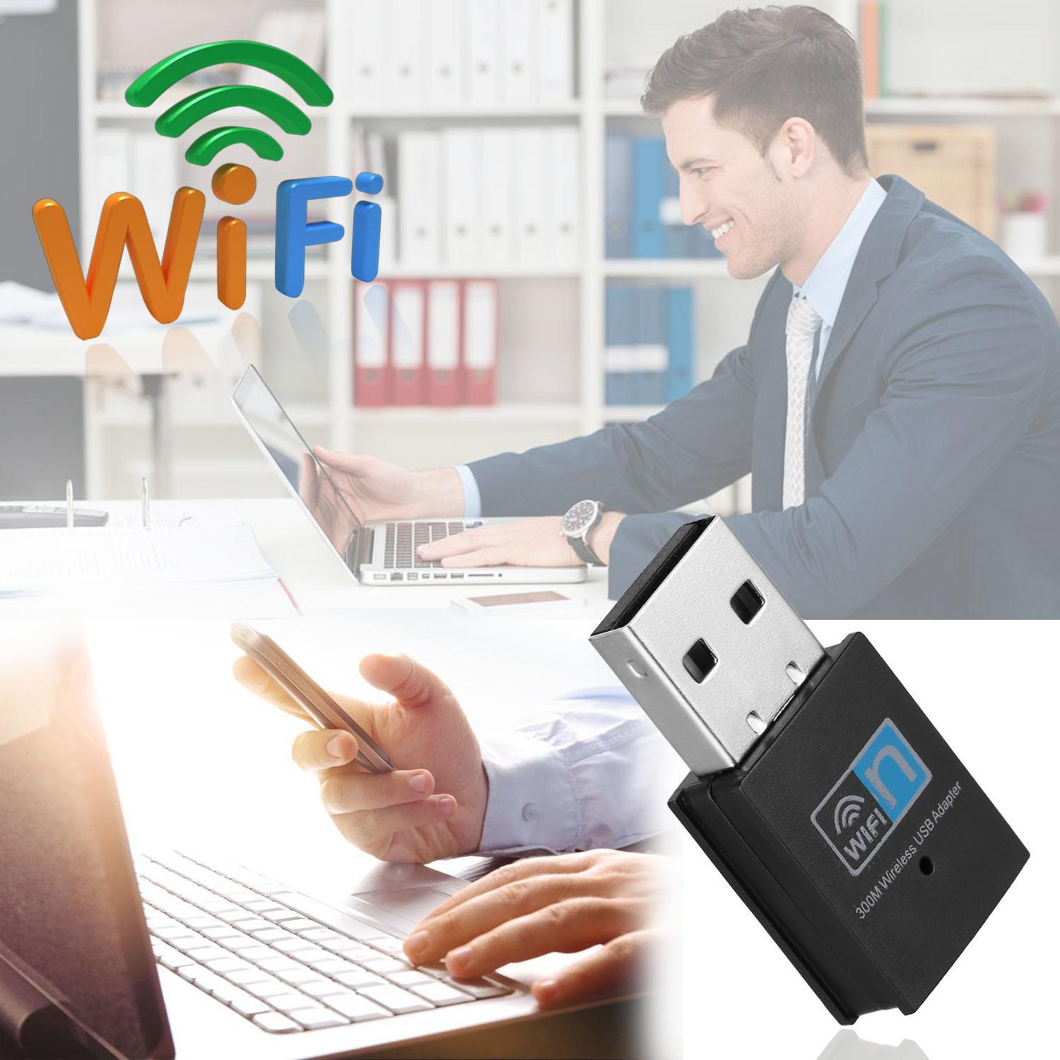 300Mbps Mini Wireless USB Wifi Adapter LAN Internet Network Adapter 802.11n/g/b 4