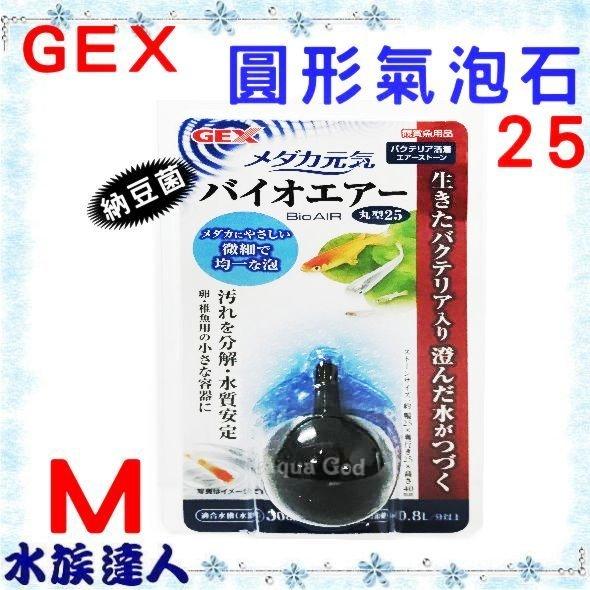 推薦【水族達人】日本GEX《納豆菌圓形氣泡石 M 25》日本製 氣泡細 溶氧效果好 ☆打氣馬達的好幫手☆