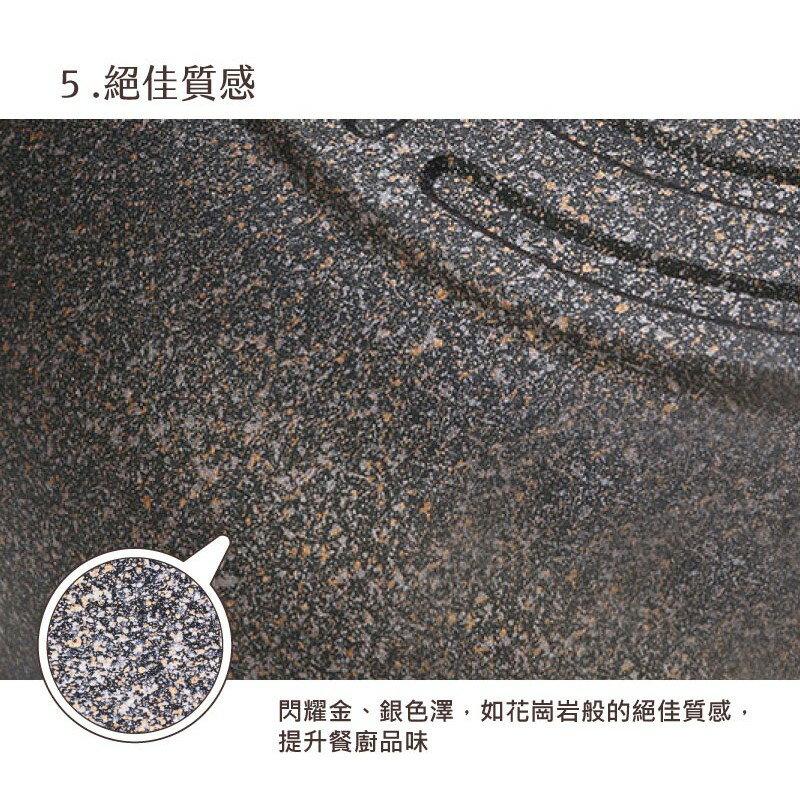 韓國 Chef Topf 崗石系列耐磨不沾煎鍋 28 公分/韓國製造/不沾鍋/洗碗機用/耐用崗石/方鍋 7