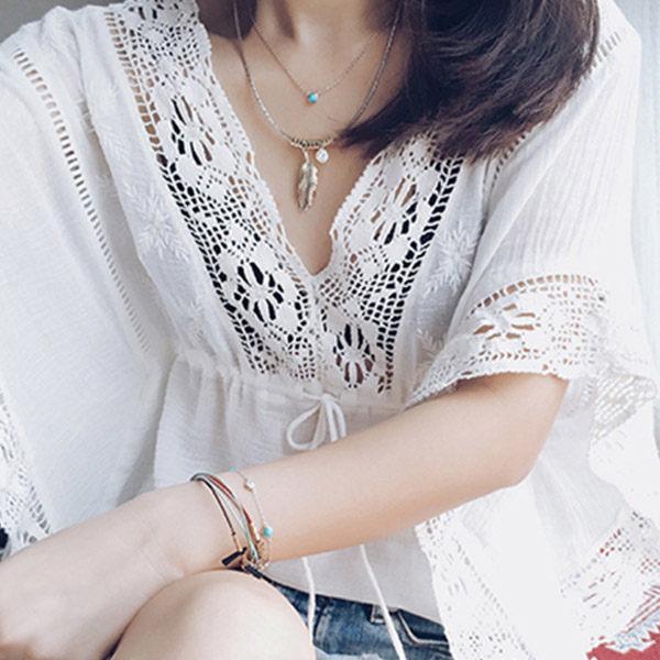 PS Mall 2016春夏  羽毛短項鍊項圈 百搭連衣裙配飾鎖骨鏈項鍊~G2104~ ~