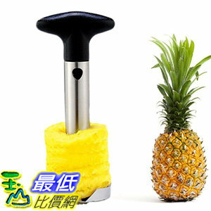 [106美國直購] Stainless Steel Pineapple Slicer Peeler Kitchen Cutter Tool鳳梨高手切鳳梨器 Tailbox Stainless Steel Pineapple Corer Slicer
