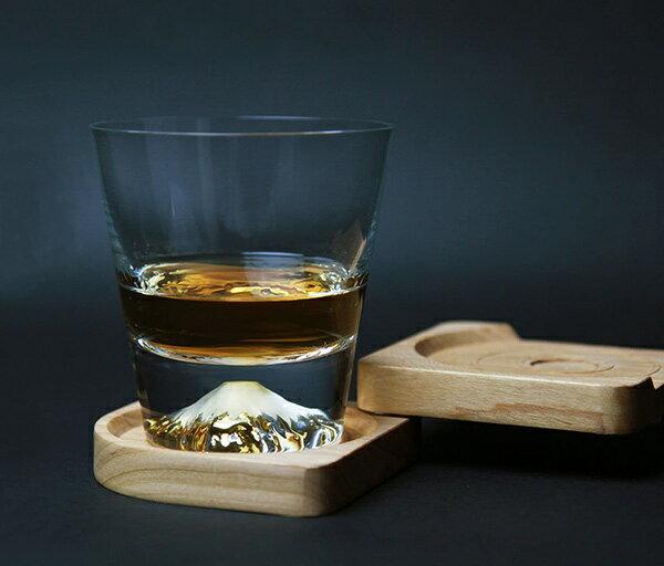 【沐湛咖啡】日本製 江戸硝子 田島硝子 富士山杯 威士忌杯 TG15-015-R (附木盒)