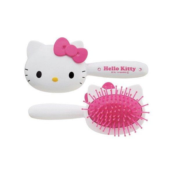 【真愛日本】15051300005 造型梳-頭型握柄粉結三麗鷗 Hello Kitty 凱蒂貓 梳子 美髮用品