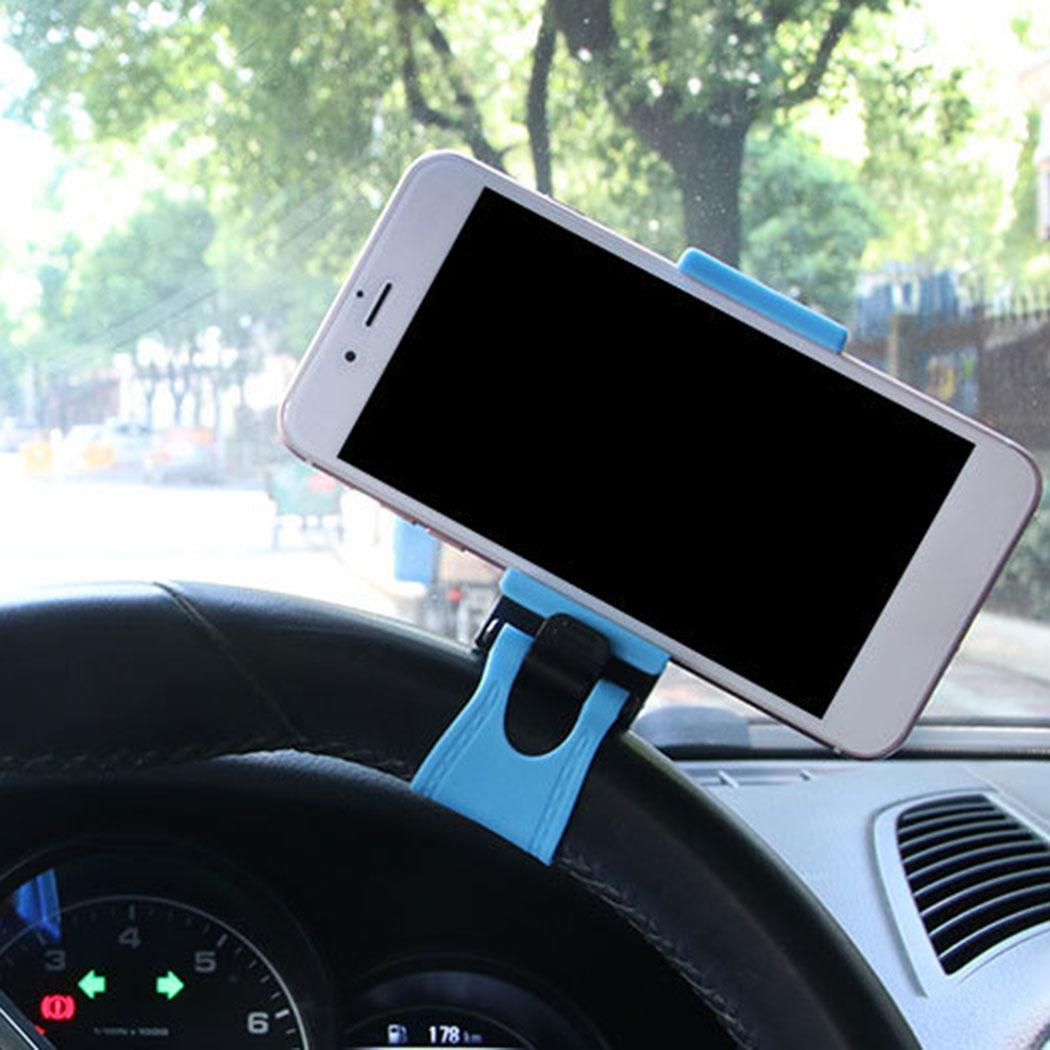 Car Steering Wheel Phone GPS Stand Clip Rubber 5