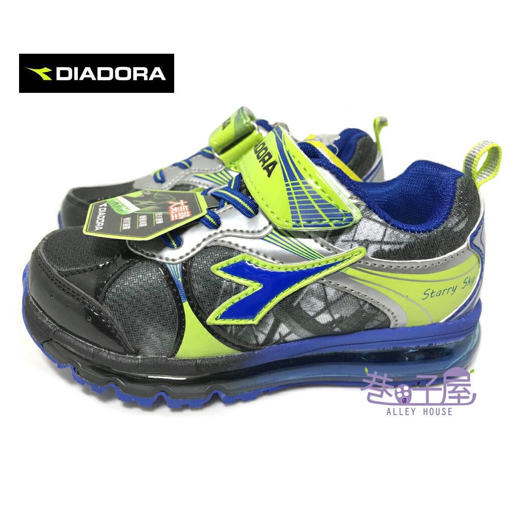 【巷子屋】義大利國寶鞋-DIADORA迪亞多納 男童4D印刷全童掌型大氣墊運動慢跑鞋 [3056] 灰藍