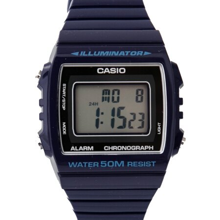 CASIO卡西歐 質感深藍色方型設計休閒運動腕錶 保固二年 50米防水 柒彩年代【NE1863】原廠公司貨