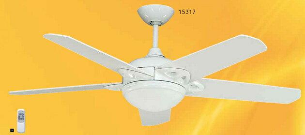 ~豪亮燈飾~52吋 柏林型燈扇 E27X1 E12X2 附遙控^(15317^)^~吊扇