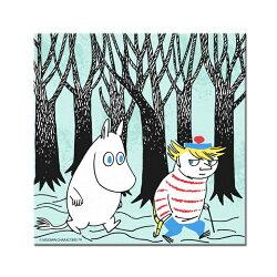 Moomin嚕嚕米 - 無框畫:【 嚕嚕米與迪琪 】(正方)