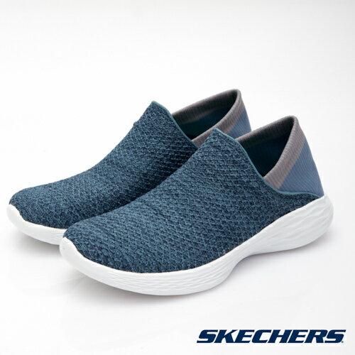 【YOUbyskechers指定配色特價1,990元!!】SKECHERS(女)YOU健走系列藍-14952BLU