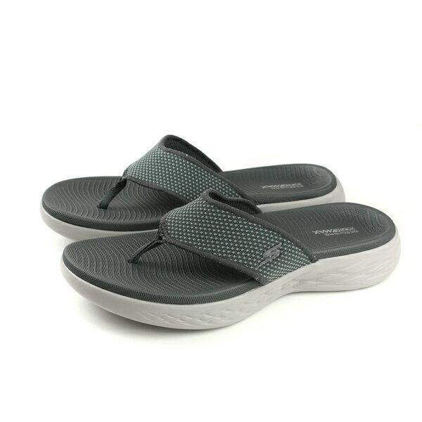 SKECHERSON-THE-GO600夾腳拖鞋男鞋灰色55350CHARno838