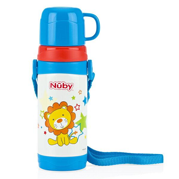 Nuby - 不銹鋼真空背帶水壺 (杯蓋) 360ml 哈哈獅