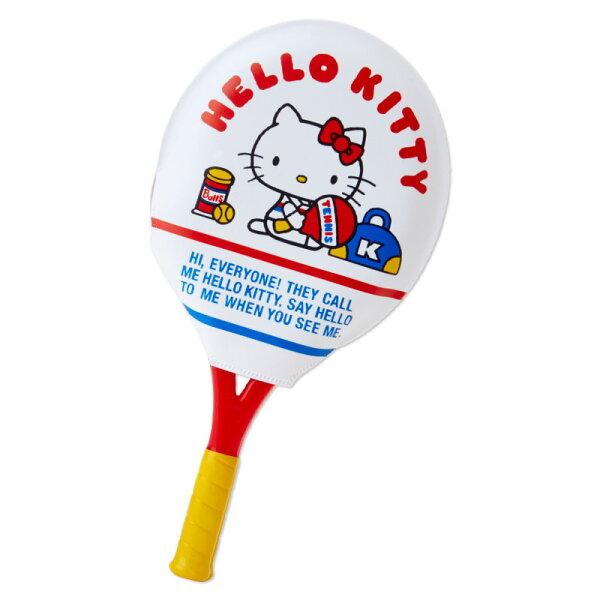 【真愛日本】4901610382776球拍造型鏡梳組-KT網球ACQ凱蒂貓kitty鏡子梳子隨身鏡