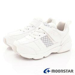 日本月星頂級童鞋 2E經典系列運動款 SGJ5041白(中大童段)