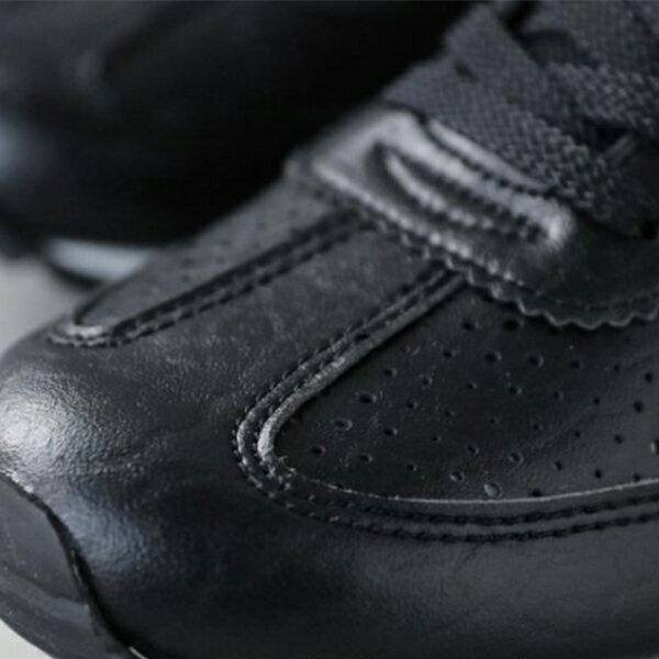 《限時特價799元》 Shoestw【63W1SO68BK】PONY 復古慢跑鞋 休閒鞋 皮革 洞洞 黑色 女款 2