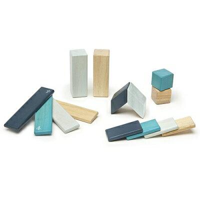 【Tegu】磁性積木- 經典組:藍色系 (14件組)