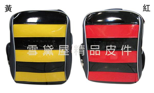 ~雪黛屋~UNME後背護脊透氣書包可A4資料夾二層主袋台灣製造超輕防水尼龍布加強保護脊椎正版授權中低年級適用U3096