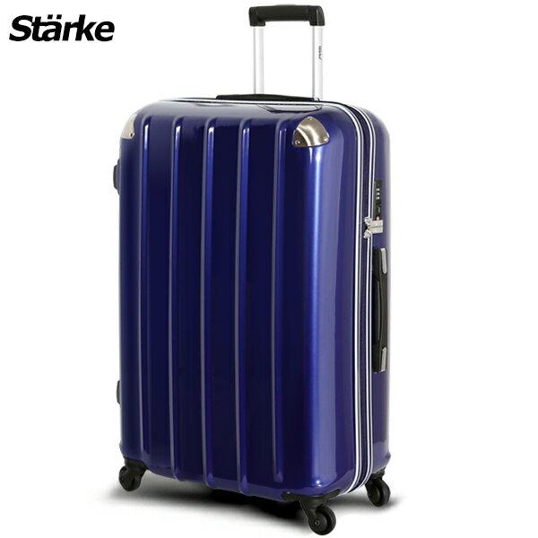 <br/><br/>  E&J【008006-02】starke  德國設計 28吋 鏡面防爆拉鍊硬殼行李箱 C-1系列 -藍色<br/><br/>