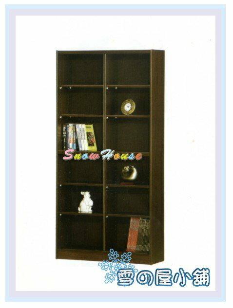 ╭☆雪之屋居家生活館☆╯AA553-10 F-12書櫃(黑胡桃)(美背式)/置物櫃/收納櫃/展示櫃/附活動隔板8片