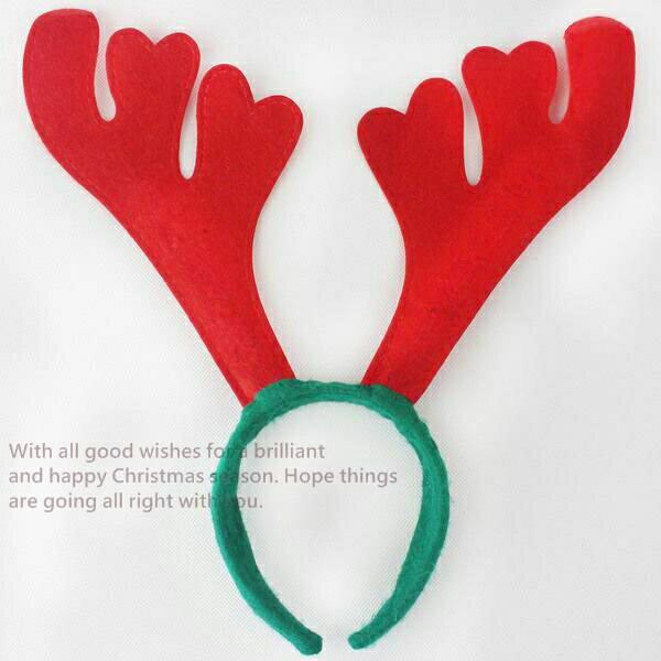 【塔克】聖誕節 耶誕節 鹿角髮圈 鹿角髮夾 麋鹿髮箍 麋鹿 麋鹿角(紅色) 麋鹿 髮箍 頭飾