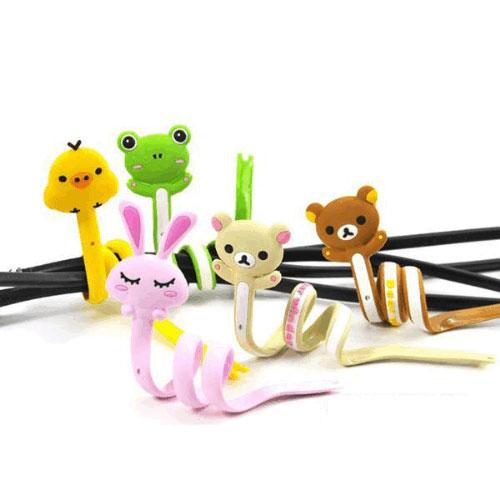 【G13070202】可愛卡通動物長條繞線器 理線器 捲線器 綁線器 理線帶