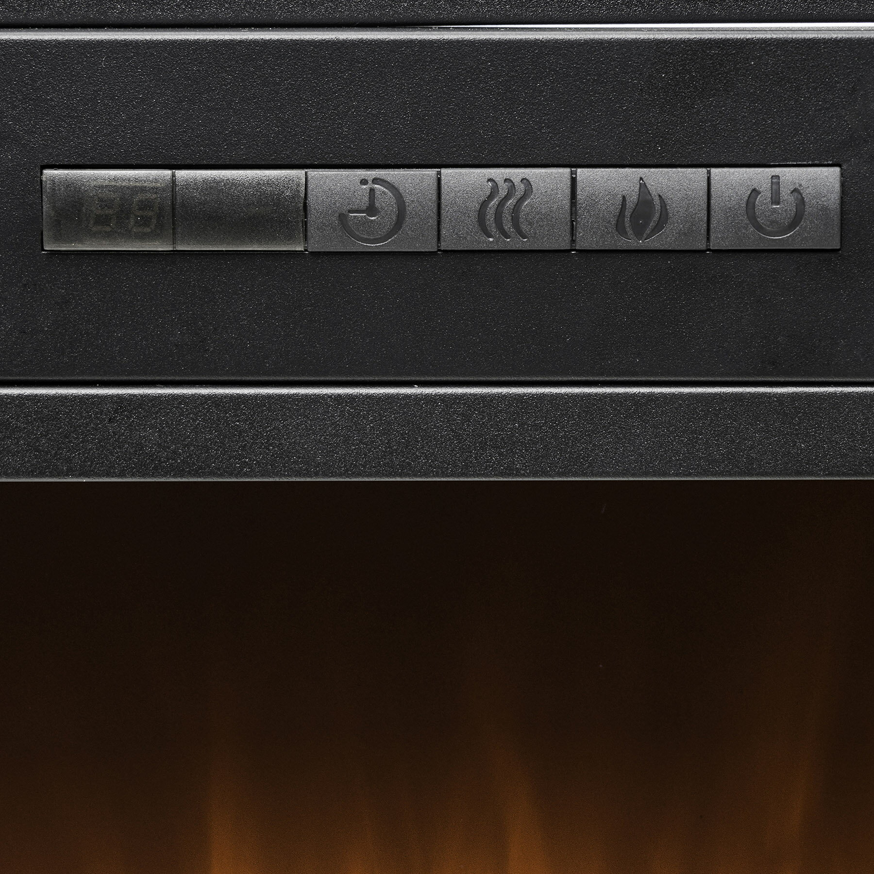 """AKDY 44"""" Freestanding Brown Wooden Electric Fireplace Heater w/ Remote 5"""
