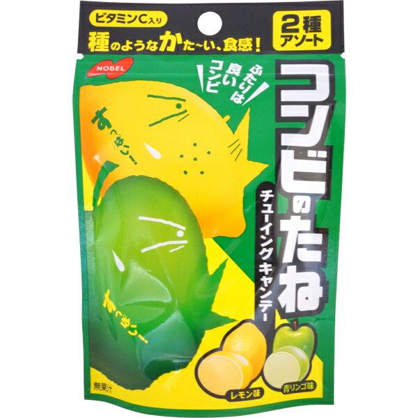 【江戶物語】NOBEL 諾貝爾 綜合嚼糖 檸檬/青蘋果風味 35g 超硬食感 口嚼糖 搭檔的種子 日本進口