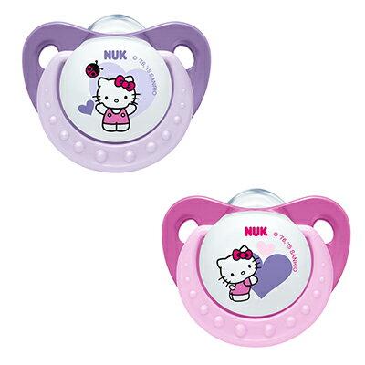 NUK Hello Kitty 安睡型矽膠安撫奶嘴(初生型)-2個/卡【悅兒園婦幼生活館】