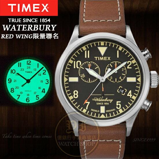 TIMEX美國第一品牌x RED WING 聯名Waterbury系列計時腕錶TXT2P8