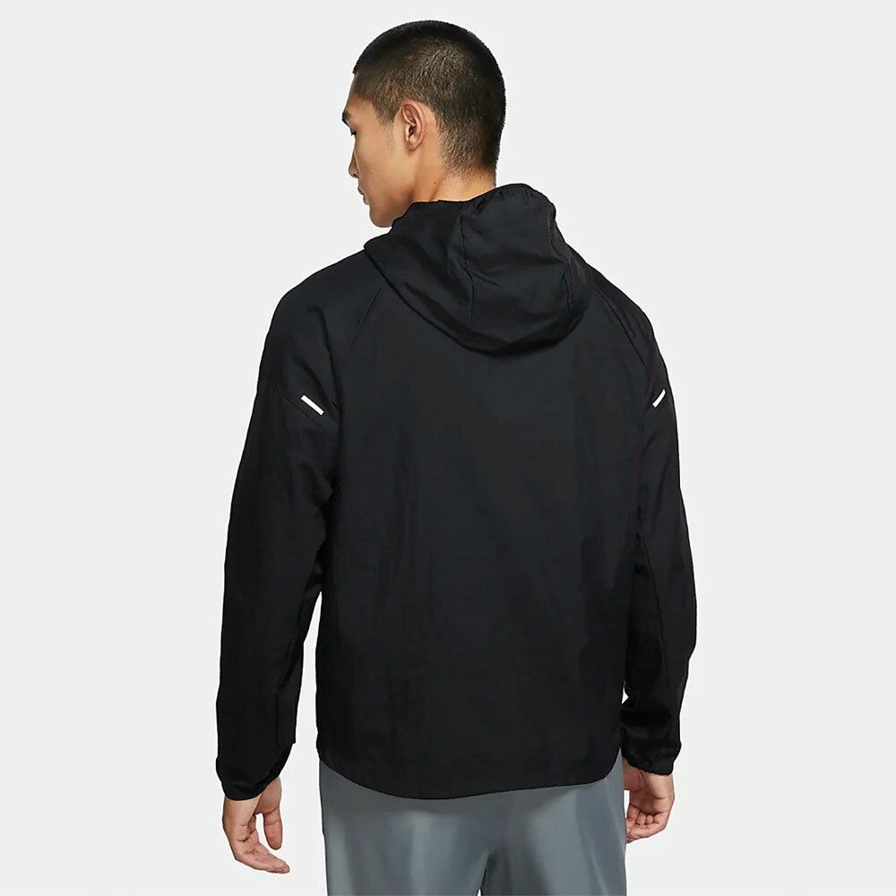 【領券最高折$400】NIKE Essential 男裝 外套 連帽 慢跑 休閒 梭織 男性袖口 輕量 透氣 黑【運動世界】CU5359-010
