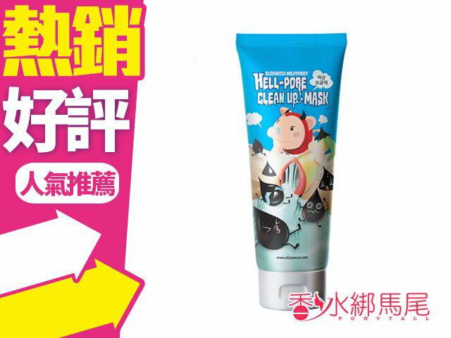 韓國 Elizavecca 惡魔豬毛孔清潔面膜 100ml◐香水綁馬尾◐