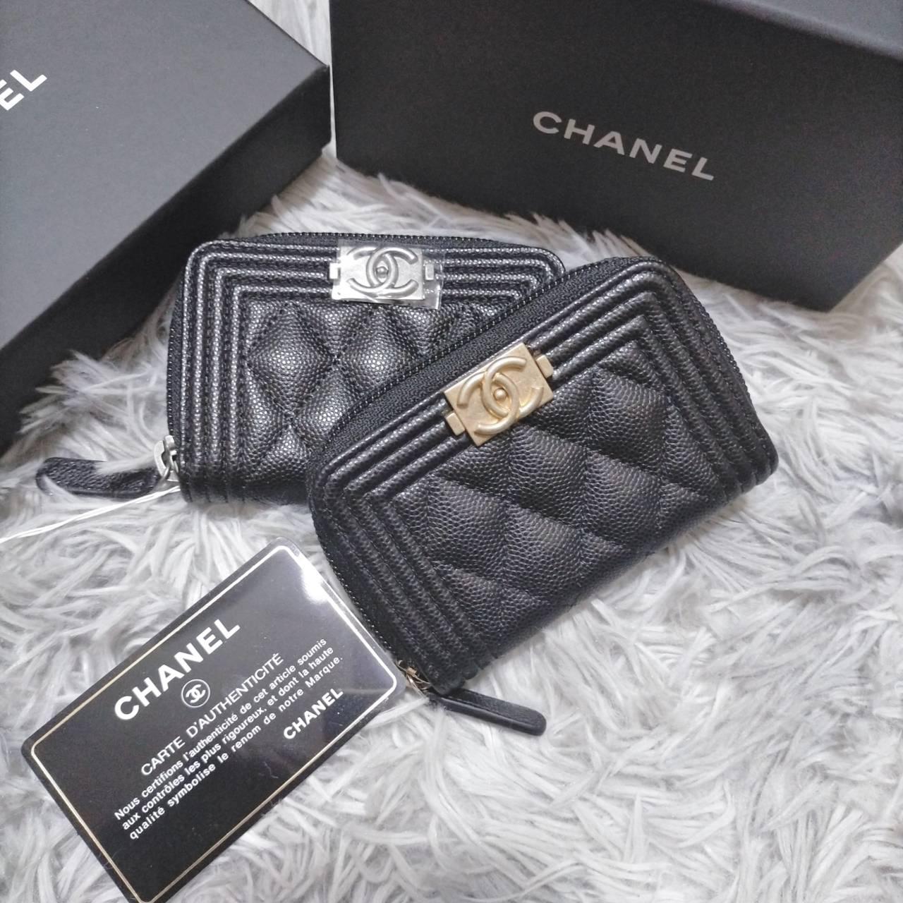 在台現貨 Chanel boy 拉鍊零錢包 只有 復古銀  $20300