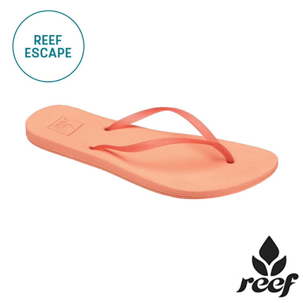 """【79 折優惠↘】REEF ESCAPE 科技防滑耐磨舒適好穿基本款橡膠人字拖 夾腳拖鞋2.0 . 鮭魚紅《全店滿 $ 700 輸入""""loveyou-beauty """" 現折100》"""