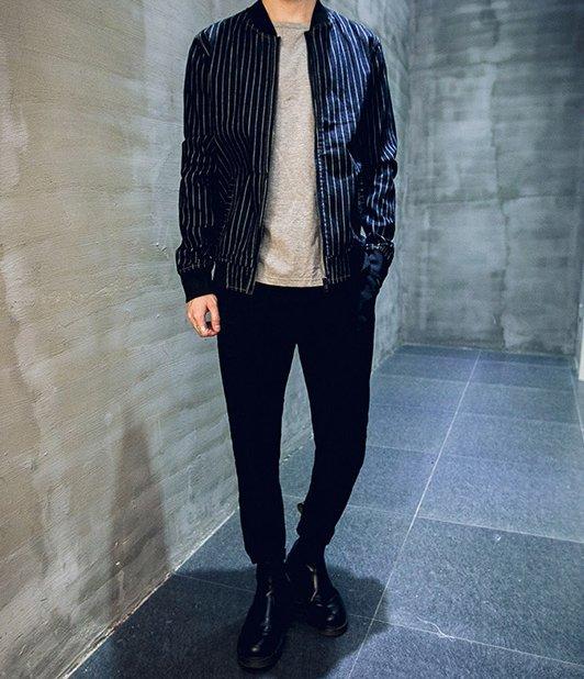 韓國 潮流 劉以豪 牛奶 潮流 棒球領子 條文 MA 設計 外套 牛仔 外套 店長自留款 原裝