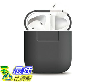[106美國直購] elago AirPods Silicone Case [Dark Gre Extra Protection for AirPods Case d08