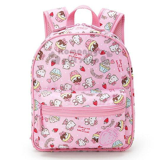 〔小禮堂〕Hello Kitty 兒童後背包《粉.草莓.蛋糕.滿版》防潑水材質