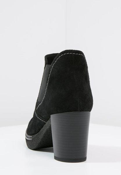 Gabor 縫紋交露踝時尚跟靴 黑 粗跟│中跟│寬楦│皮革 7